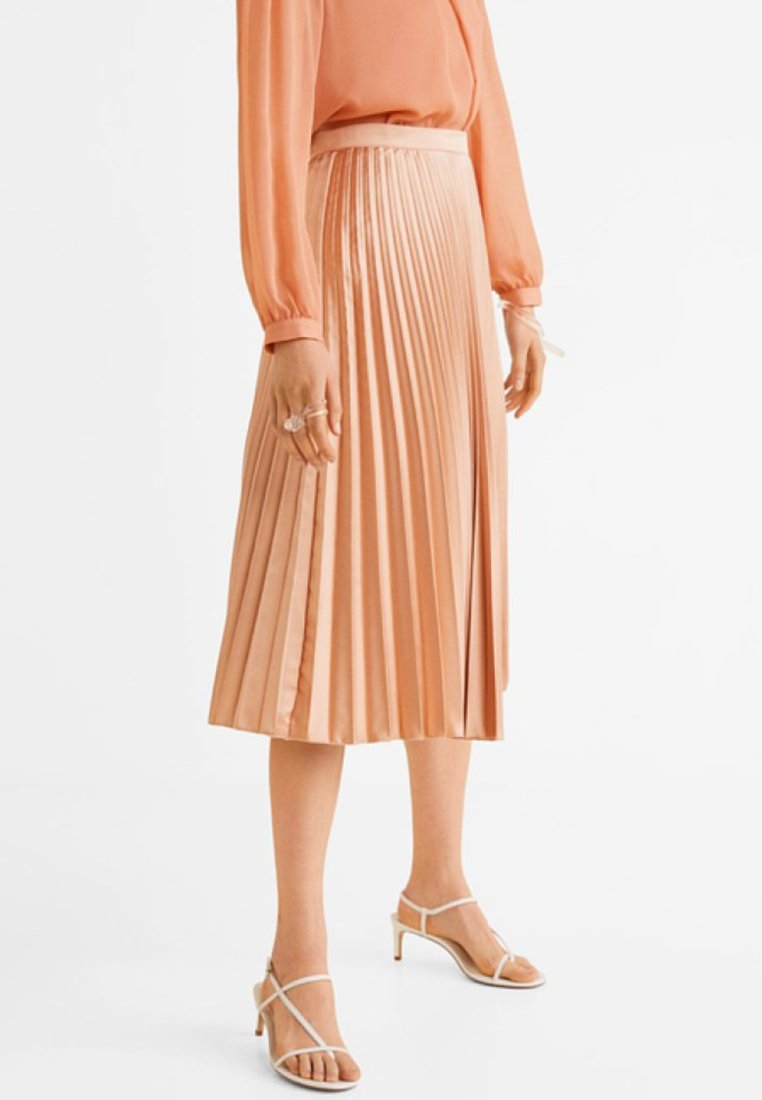 Mango - GOLDIE - Pleated skirt - rosa