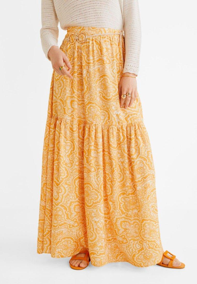 Mango - CORN - Pleated skirt - orange