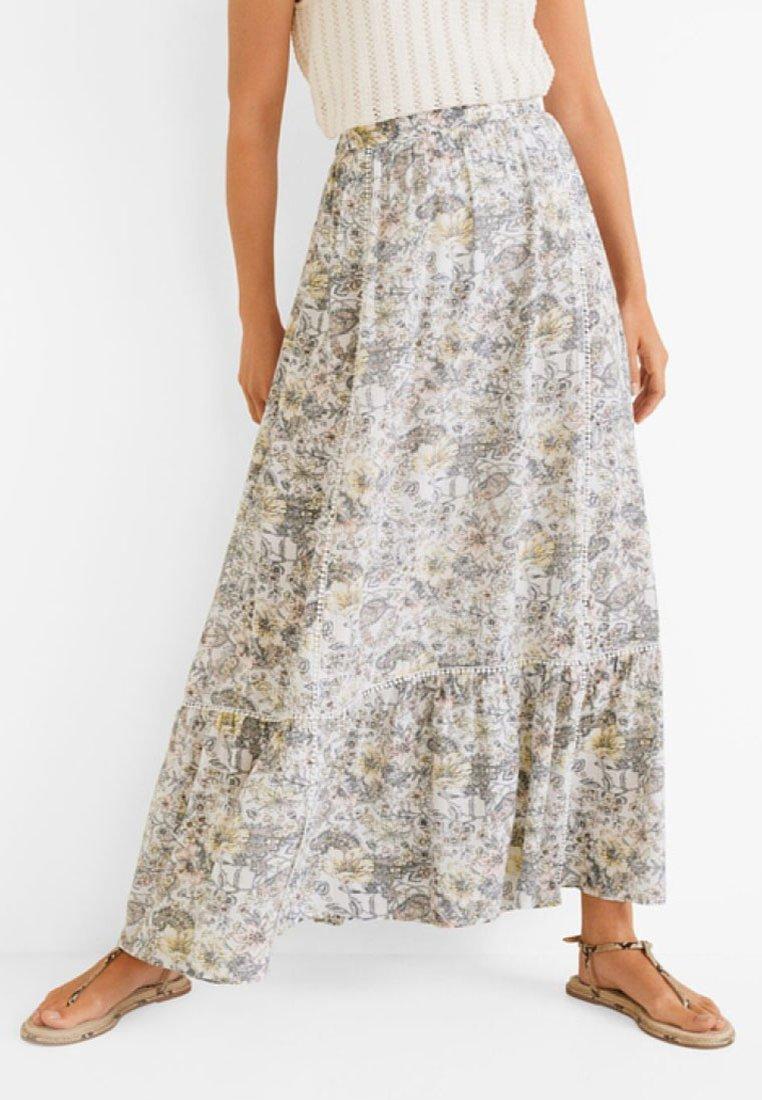 Mango - VILMA - Maxi skirt - cream white