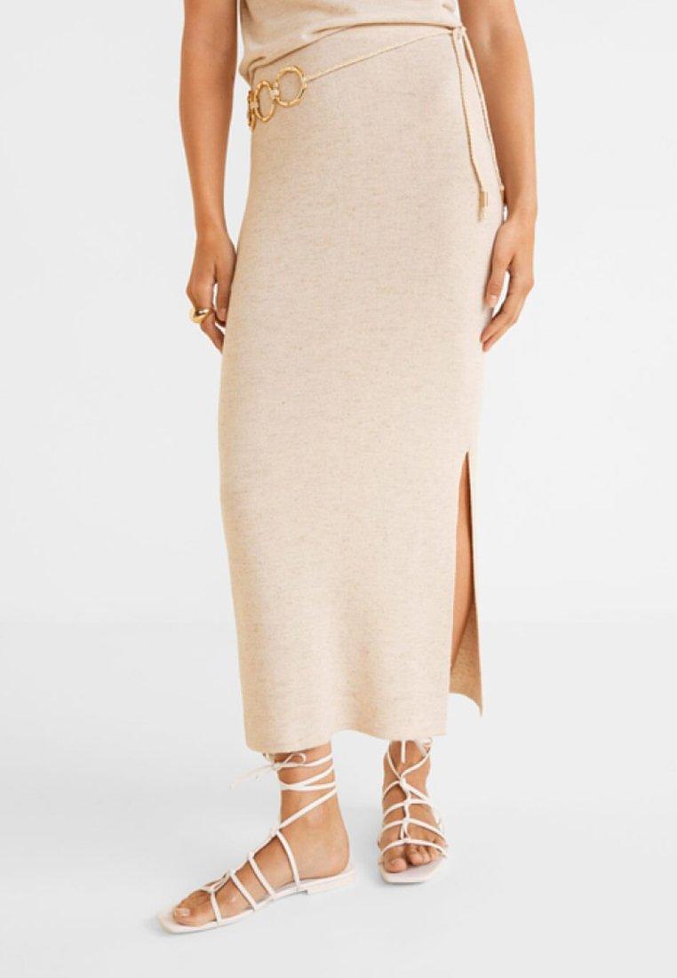 Mango - Maxi skirt - sand