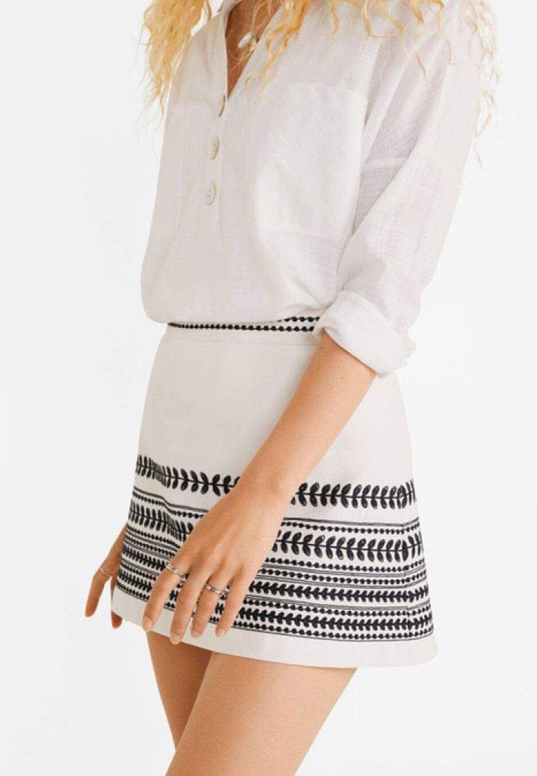 Mango - GAN - Minifalda - beige