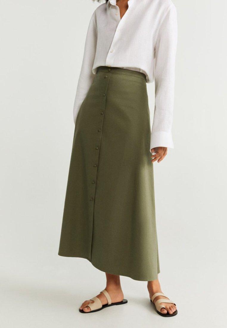 Mango - BOTON - Maxi skirt - khaki