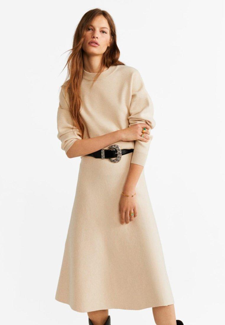 Mango - FLEAR - A-line skirt - ecru