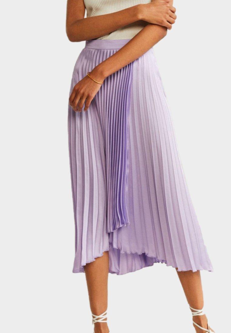 Mango - VIOLET - Pleated skirt - violet