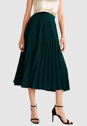 PLISADO - A-line skirt - dark green