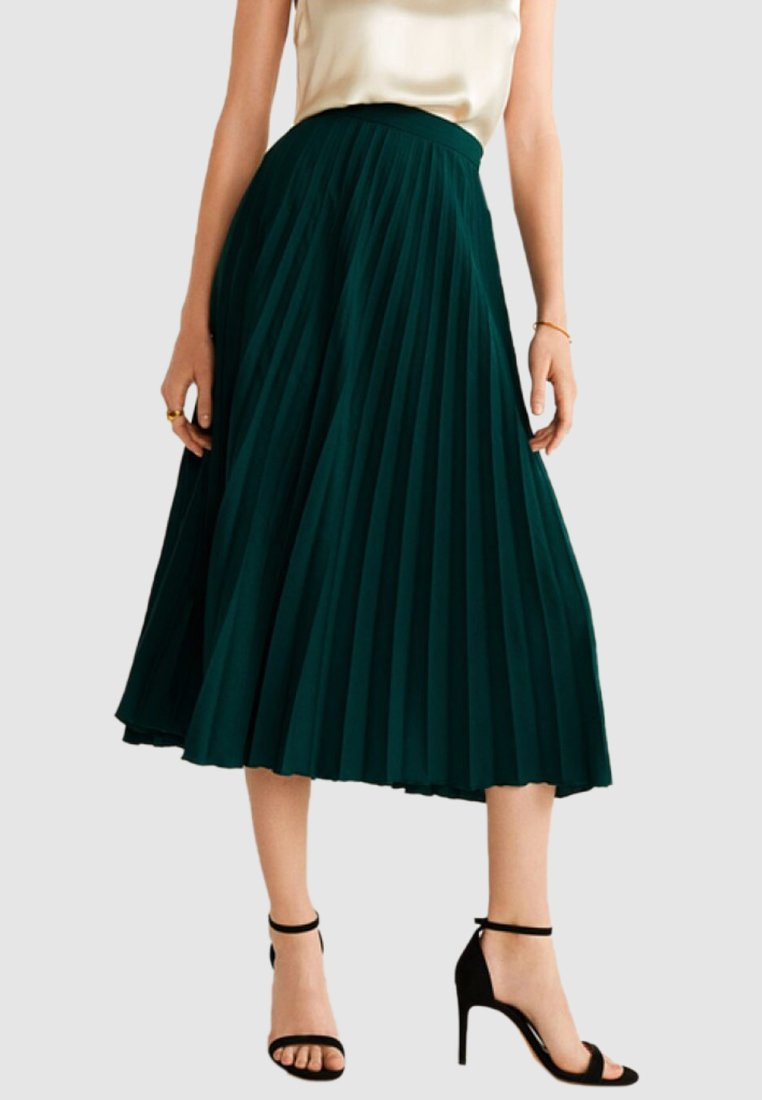 Mango - PLISADO - A-line skirt - dark green