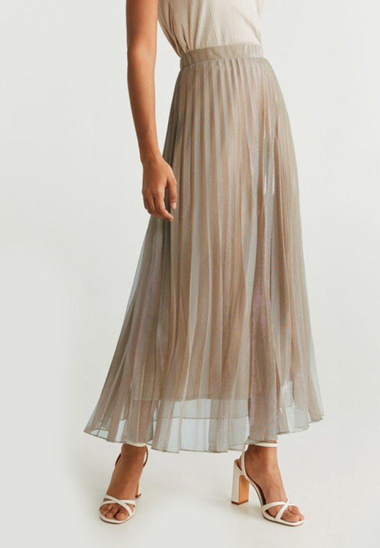 Mango - BREEZE - Pleated skirt - beige