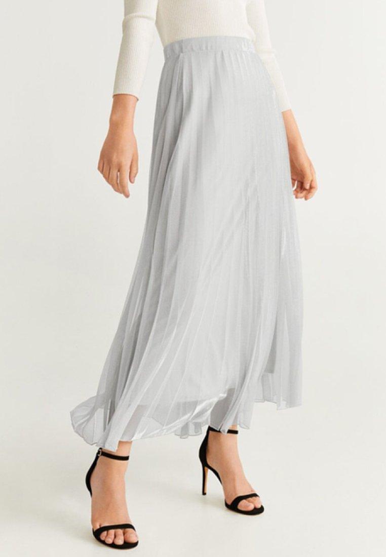 Mango - BREEZE - Pleated skirt - silver