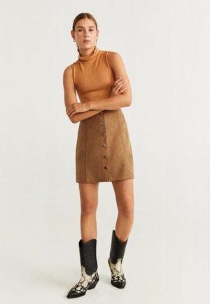 NINA - A-line skirt - brown