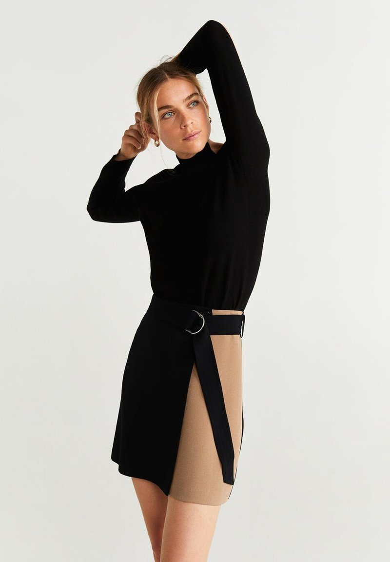 Mango - CIARA - Spódnica trapezowa - black