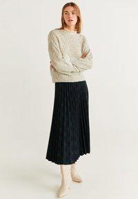 Mango - PLEATED - A-line skirt - green - 1