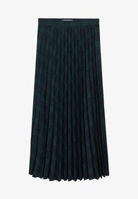 Mango - PLEATED - A-line skirt - green - 3