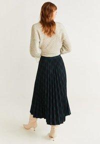 Mango - PLEATED - A-line skirt - green - 2