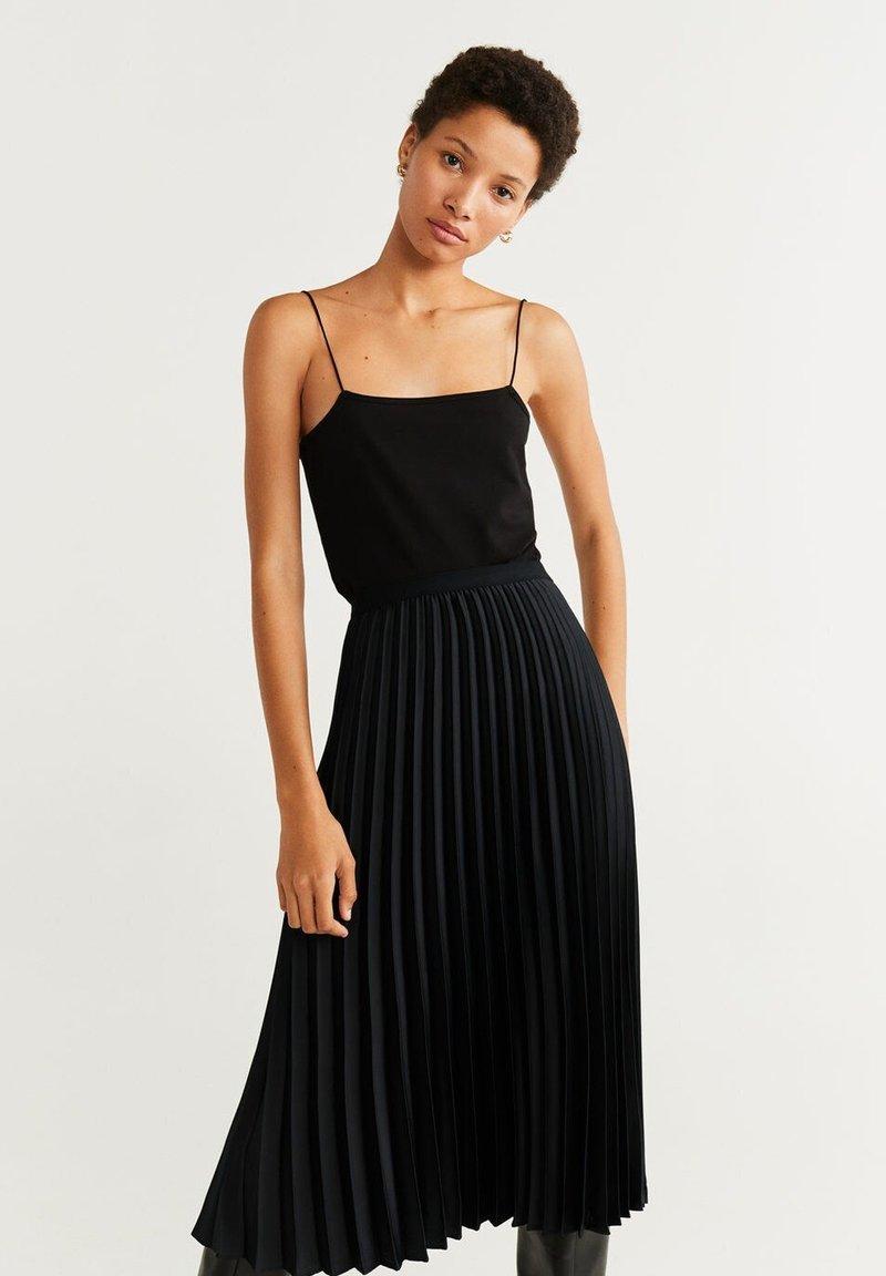 Mango - CATIA - A-line skirt - black