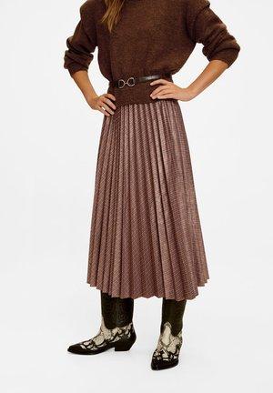 MARAYA - A-line skirt - brown