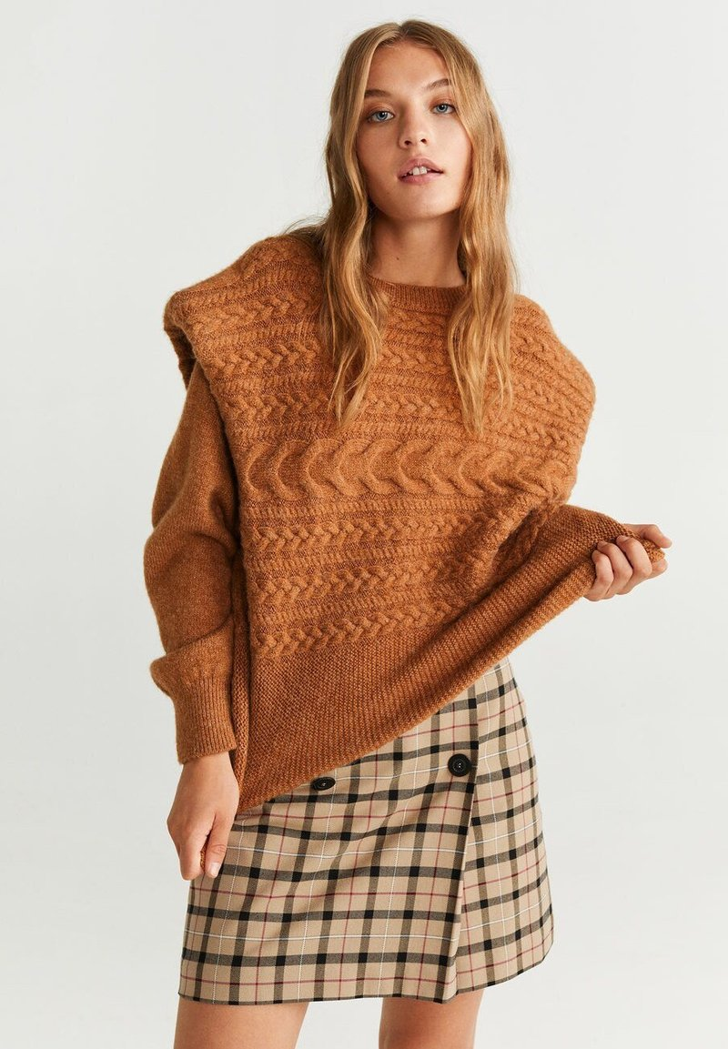 Mango - CAPRI - Mini skirt - brown