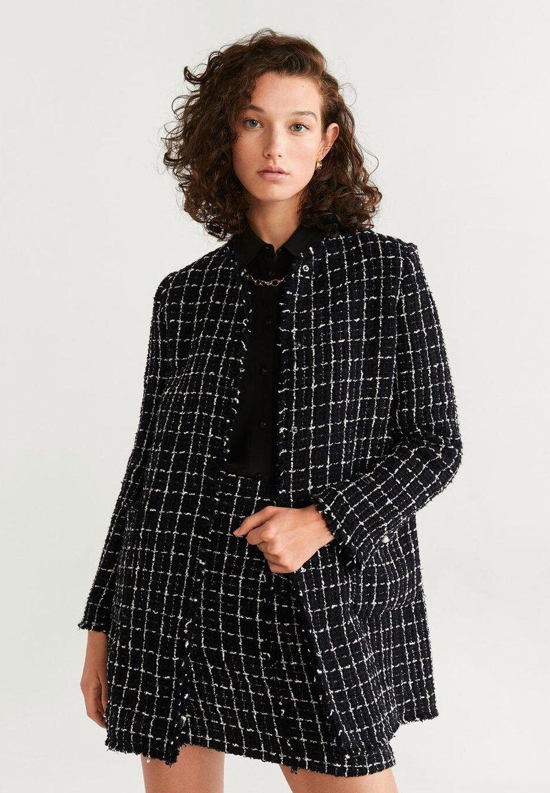 Mango - WINTOUR - A-line skirt - black