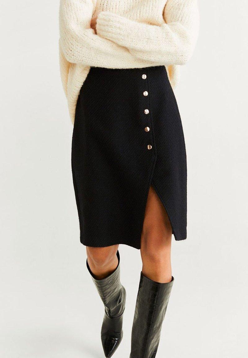 Mango - A-snit nederdel/ A-formede nederdele - black