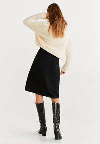 Mango - A-snit nederdel/ A-formede nederdele - black - 2