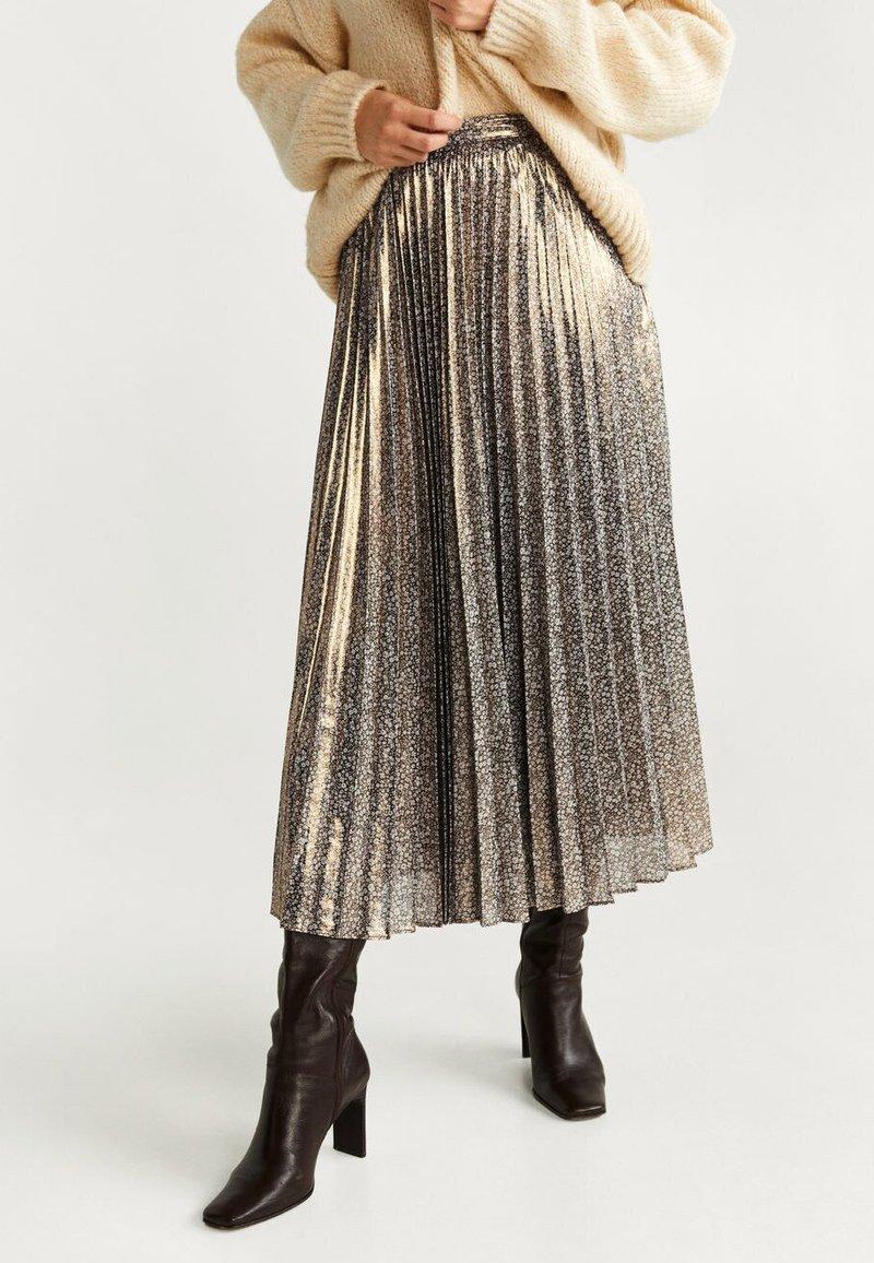 Mango - FARAI - A-line skirt - gold