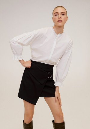 VIOLET - Wrap skirt - black