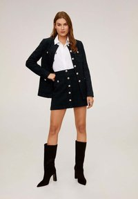 Mango - MONZA - A-line skirt - black - 1