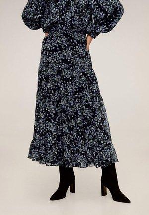 LAVANDA - Pleated skirt - black