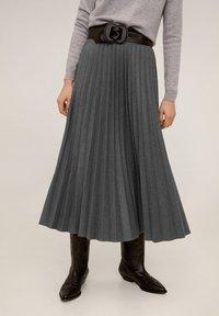 Mango - WOOLY - A-line skirt - grau - 1
