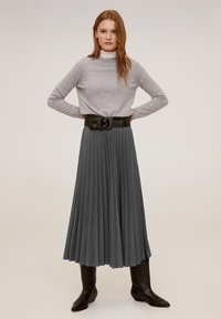 Mango - WOOLY - A-line skirt - grau - 0