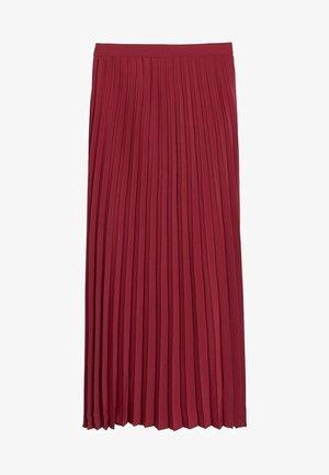 ANGELA - Pleated skirt - mittelrot