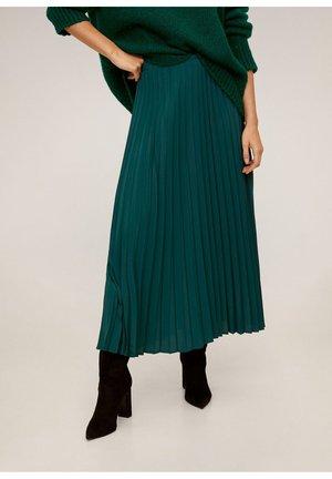 ANGELA - Pleated skirt - green