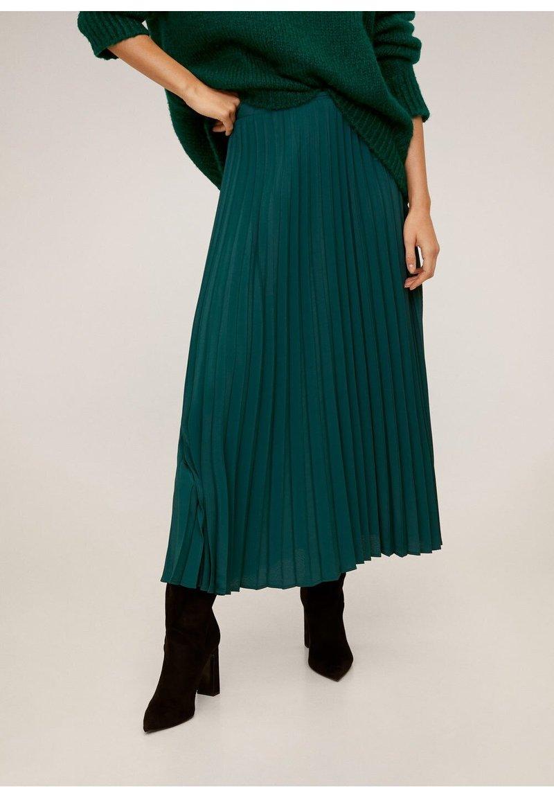Mango - ANGELA - Pleated skirt - green