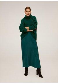 Mango - ANGELA - Pleated skirt - green - 1
