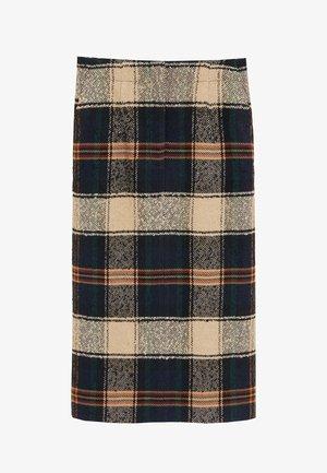BOMBI - A-line skirt - marineblau