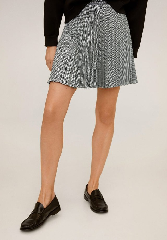 PLEATY - A-line skirt - black