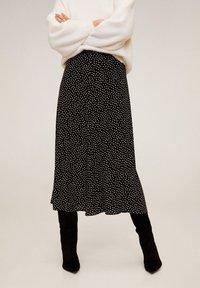 Mango - BOMBAY - A-line skirt - zwart - 0