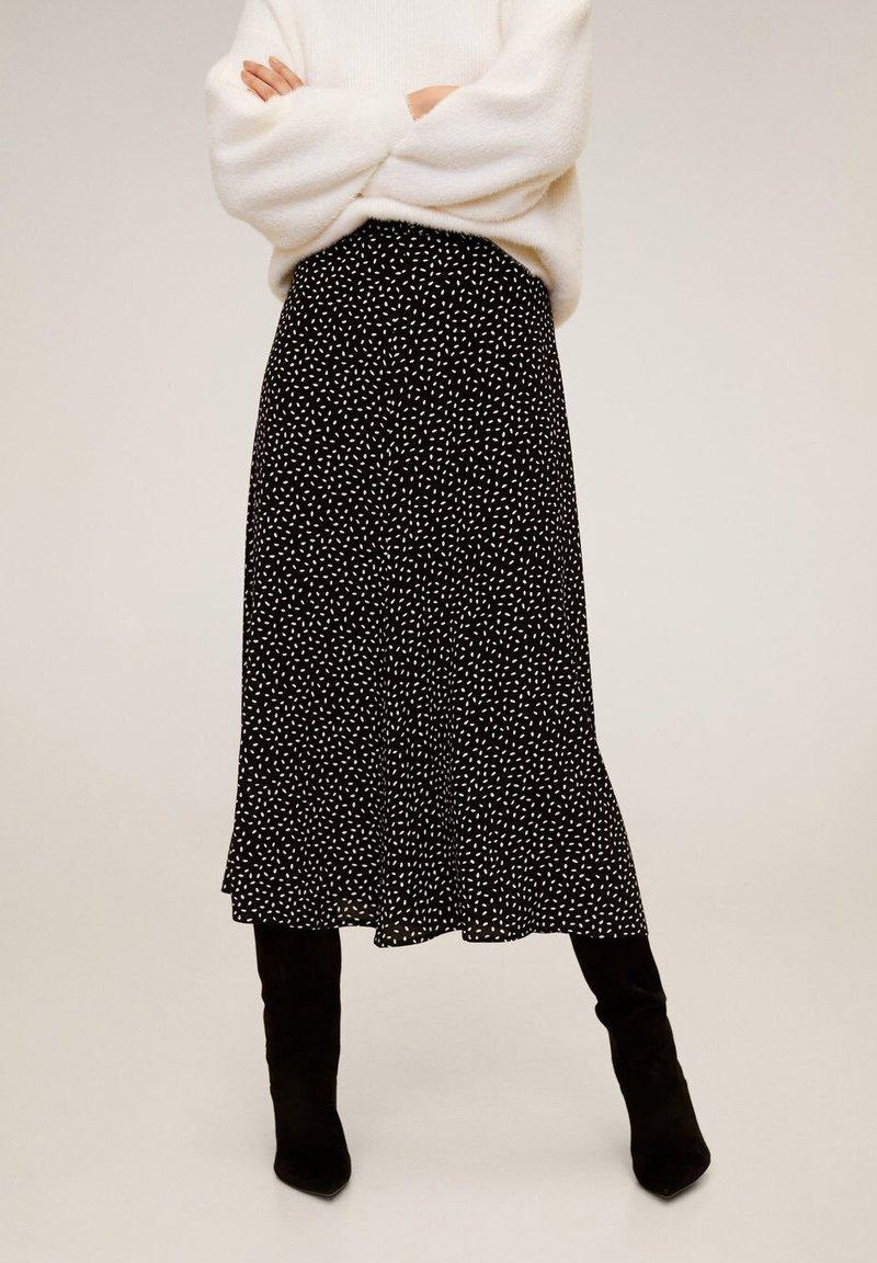 Mango - BOMBAY - A-line skirt - zwart