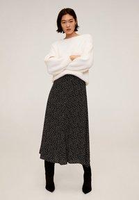 Mango - BOMBAY - A-line skirt - zwart - 1