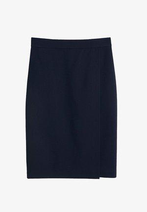 BOREAL - Wrap skirt - dunkles marineblau