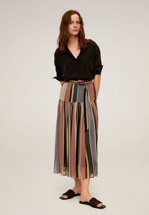 EMPIRE - Pleated skirt - rosa