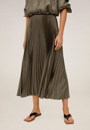 PLISADO - Pleated skirt - khaki