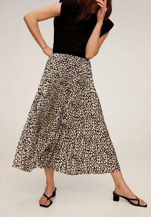 PLISADO - Pleated skirt - schwarz