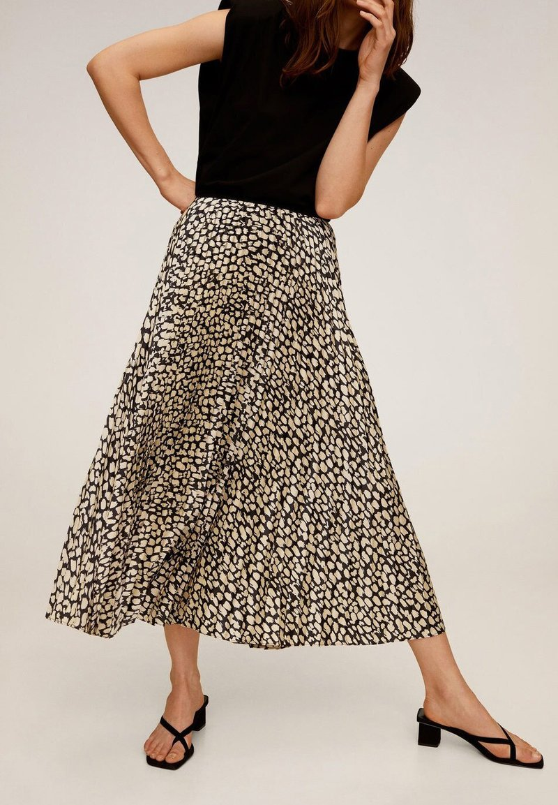 Mango - PLISADO - Pleated skirt - schwarz