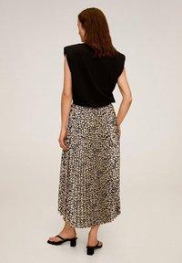 Mango - PLISADO - Pleated skirt - schwarz - 2