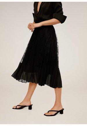 BIMAT - Veckad kjol - schwarz