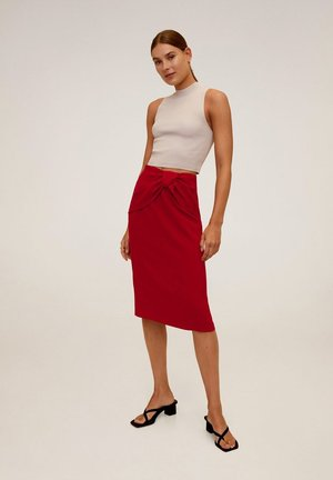 PALACHIN - Pencil skirt - rot