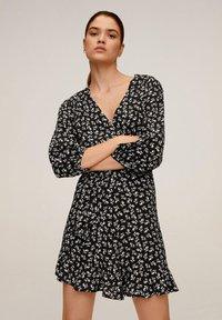 Mango - DELHI - A-line skirt - schwarz - 0