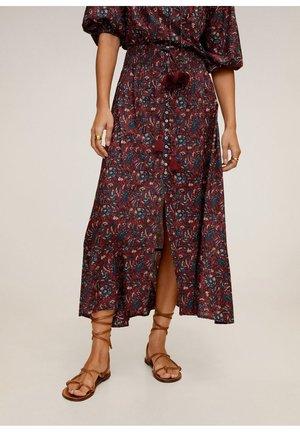 MAGIE - Pleated skirt - granatrot