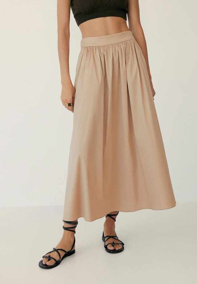 ELNA - Spódnica trapezowa - beige