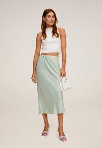 Mango - BIAS - A-line skirt - wassergrün - 1